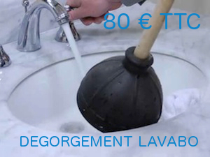 tarif degorgement lavabo